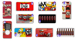 Wholesale New product design Duff Beer Simpsons hard white case cover for iphone G S
