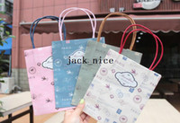 Paper B0911-003 hot Vintage tower and stamp series kraft paper gift bag, Kids Paper bag with handles, wholesale price