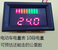 Wholesale 10 bar LED Digital Battery Charge Indicator with voltage indication For Golf Cart motorcycle boat V V V V V