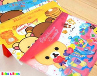 Wholesale New Cartoon rilakkuma designs File folder A4 documents file bag stationery Filing Production