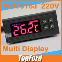 Wholesale Multi Display Willhi WH7016J V Electronic thermostat TEMP ZONE degree C Alarm digital thermostat temperature controller IB136