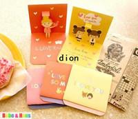 Wholesale New cute love girl sticker amp greeting card set envelope sticker card