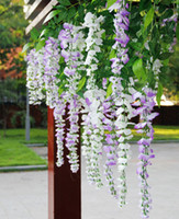 Wholesale 20pcs cm M Silk Simulation Artificial Wister wisteria Flower Garlands Wedding Photography Christmas Home Decorations