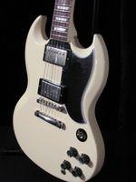 Solid Body 6 Strings Mahogany best china guitar Deluxe Model Custom Shop SG 1960 in classic white, w burstbucker pickups!