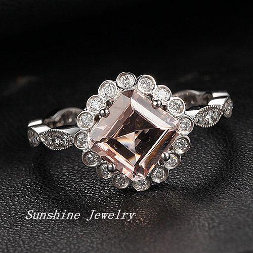 Morganite Wedding Band 73 Cool Morganite engagement rings canada