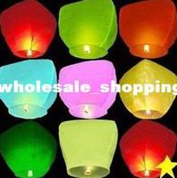 Cheap Free Shipping 8 color Wishing Lantern fire balloon Chinese Kongming lantern Wish Lamp Sky Lanterns