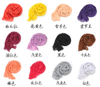 crinkle scarf - Girl Women s Large Cotton Linen Long Crinkle Scarf Wraps Shawl Colorful Candy
