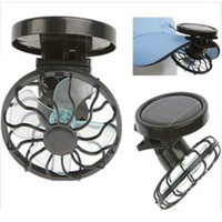 Wholesale Piece New Solar Cell Fan Sun Power Energy Panel Clip on Cooling Hat Cooler Fan For Camping Hiking