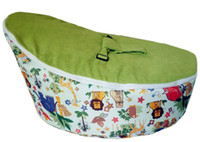 Wholesale new pattern green doomoo baby beanbag baby seat baby chair baby bed