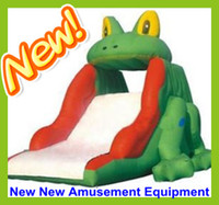 Wholesale The Newest Design Inflatable Water Slides Frog Water Trampolines Water Motorboat Water Blob Water Games Amusement Park Facility