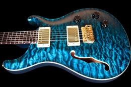 Wholesale best china guitar electric guitar string Electric Guitar HOLLOW CUSTOM PRIVATE STOCK BRAZILIAN QUILT