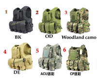 Wholesale New Amphibians combat Molle design military Tactical vest wire steel for Six color choices