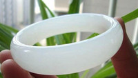 Women's grade a jade bangle - A white Xinjiang and nephrite jade bracelet bracelet natural suet grade Kunlun