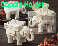 Wholesale DHL Lucky Elephant Tealight Candle Holder Wedding Birthday gifts without Tea light