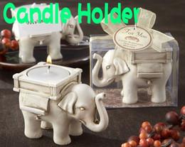 DHL el envío Gratuito de la Suerte Elefante Candelitas Titular de la Boda regalos de Cumpleaños sin luz del Té 100pcs/lote desde velas de cumpleaños barcos fabricantes
