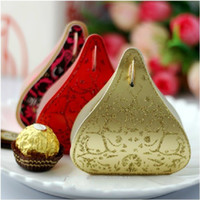 Favor Bags Gold Paper Fashion DIY Craft Hollow Out Favor Boxes Wedding Party Candy Gift Holder Bridal Banquet Bag 100pcs free shipping