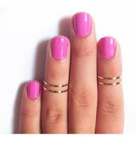 Party Alloy Band Rings ZYSJ Wholesale 50pcs lot Gold silver-Tone Shiny Cute Brass Knuckle Ring Simple Band Midi Ring