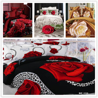 Wholesale D printed Fitted Sheet Rubber Around d bedding set Flower