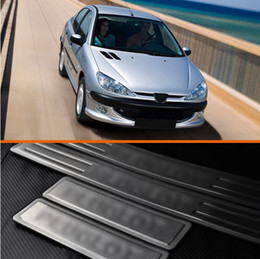 Wholesale Door Sill Steel Plate Protector Stainless Scuff Guard For Peugeot