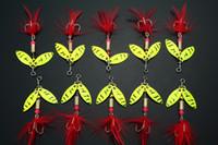 Lot 10 FISHING LURES SPINNER HOOKS BAITS 3. 8g