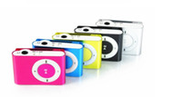 Wholesale Colorful Mini Clip MP3 player support TF SD Card with earphone USB Cable retail box Metal Mp3