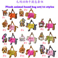 cartoon bags - retail Plush cartoon animal toy animal plush handbags leisure bags bag handbag styles