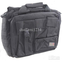 Wholesale 9 Tactical Cool Portable Dual Layered Leisure Laptop Notebook Bag Briefcase with Handle amp Shoulde