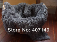 Wholesale 75 cm hairy fabric mat basket stuffer newborn baby props props for baby photo