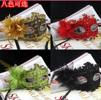 Wholesale Hot New Fashion Women Lace diamond princess lily leather mask masquerade masks Party Masks