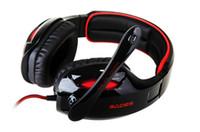 Casque professionnel 7.1 effets sonore Casque HD Casques de jeu Avec microphone SADES SA-902 pour Esports LOL DOTA CS CF