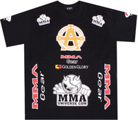Wholesale mma fight t shirt men s short sleeve black t shirt dropship