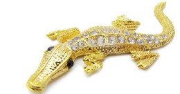 Free shipping----With drill crocodile metal car stickers car decoration