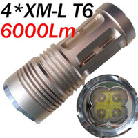 Wholesale Super Bright Skyray King Lumen x CREE XM L XML x T6 LED Flashlight Lamp High Power Torch
