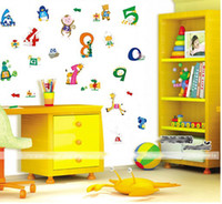 Wholesale New Arrival Baby real bedroom wall stickers cheap cartoon letter stickers for kids cm free sh