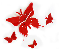 Wholesale Brand New Fashion Butterfly Wall Clock Decor Fashion Wall Clock Decor For Baby Room For Wedding Room Color