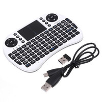 Wholesale Rii Air Mouse Wireless Handheld Keyboard Mini I8 GHz Touchpad Remote Control For MX CS918 MXIII M8 TV BOX Game Play