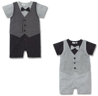 Wholesale tuxedo baby rompers boys fashion bodysuits colors Z04