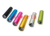 Wholesale Lipstick External Battery mAh Emergency Power Bank Charger for Phone S iphone Samsung Galaxy S3 i9300 S4 i9500