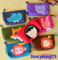 For Christmas   20pcs MP3 Cell Phone Cases Iphone Storage Cartoon Girls Coin Purses Organizer Digital Cameras Bag Money Wallet FREE SHIPPING