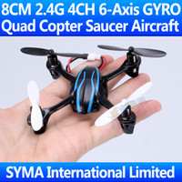 Wholesale 8CM Mini Ghz CH JXD Axis GYRO Quadcopter Saucer Aircraft Quad Copter UFO Parrot AR Drone VS Hubsan X4 H107 RC Helicopter JD