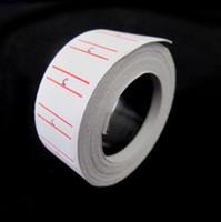 20 Rolls définir / lot Prix label Paper Tag Prix Tagging Pour MX-5500 Labeller Gun Blanc