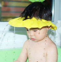 Wholesale Children baby shampoo cap thickening new baby shower cap can adjustable