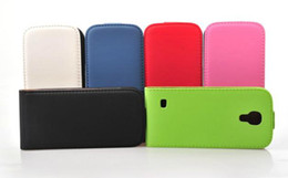 Leather Wallet Case For Samsung Galaxy S4 mini i9190 with green,pink,black,white + Free Shipping