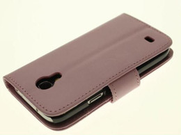 NEW BRAND Leather Wallet Case For Samsung Galaxy S4 mini i9190 with green,pink,black,white + Free Shipping