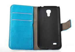 For Samsung Galaxy S4 mini i9190 NEW BRAND Leather Wallet Case with green,pink,black,white + Free Shipping