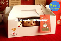 Wholesale hole paper cupcake muffin cake box with insert divider