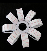Wholesale 20 Rolls set Price Label Paper Tag price tags Tagging Pricing For MX Labeller Gun White roll set