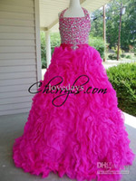 Wholesale NEW BEAD PERFECT ANGELS Hot Pink KIDS GIRLS NATIONAL PAGEANT DRESS GOWN BALLGOWN NWT PARTY PROM