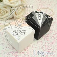 Wedding   200pcs lot elegant crystal bride and groom square wedding party favor holder candy box gift boxes wc130