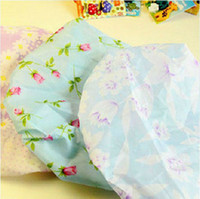 Wholesale Cute Flower Printing Lace Elastic Shower Cap Waterproof Hair Hat Bathing Cap